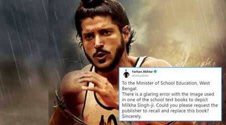 Actor Farhan Akhtar highlights 'glaring error' in a Bengali school textbook, government responds