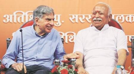 RSS chief Mohan Bhagwat, Ratan Tata share stage in Mumbai
