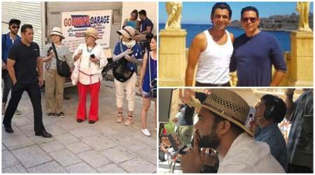 It is work and play for Salman Khan on the sets of Bharat in Malta