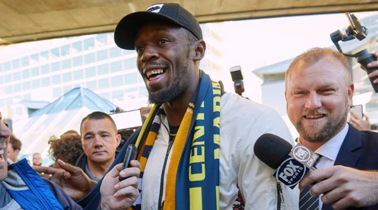 Usain Bolt arrives in Sydney to kick-off his football career