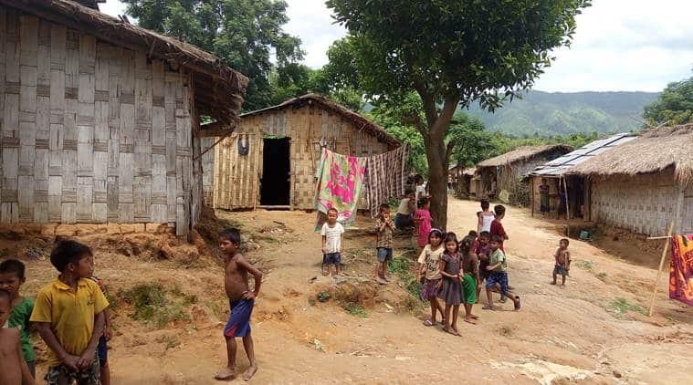 Nearly 20,000 Bru refugees in Tripura are registered voters in Mizoram. (Express photo/Debraj Deb)