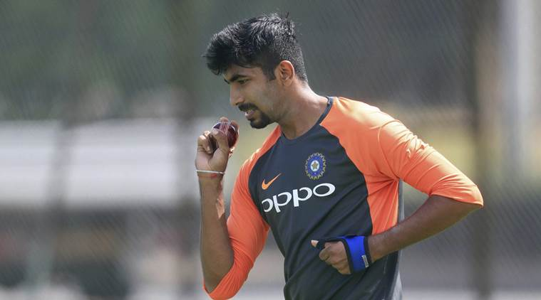 Jasprit Bumrah during practice session