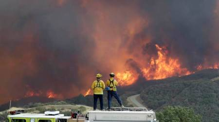 California wildfire, California fire, Ferguson fire, Carr fire, massive wildfire in Northern California, California Department of Forestry and Fire Protection, 1000 homes torched, 6 killed in california wildfire, World News, Indian Express
