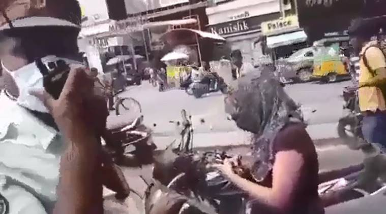 The girl was later booked for driving on the wrong side, not wearing helmet, disobedience of order and driving without license.