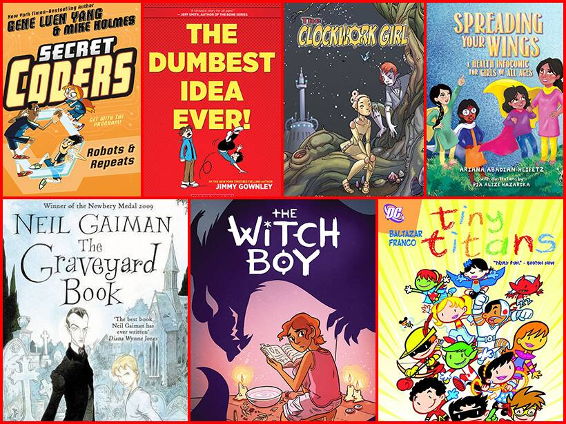 comic books, graphic novels for kids