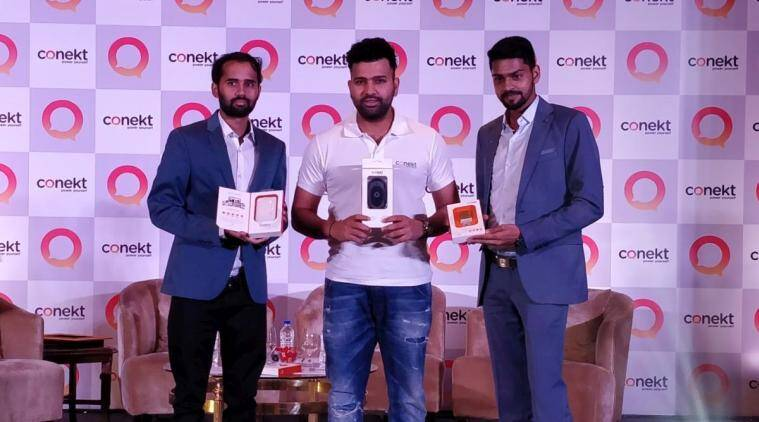 Conekt Gadgets, Rohit sharma, mobile chargers, wireless charger, earphones, power banks, car mount, mobile accessories, Conekt india launch