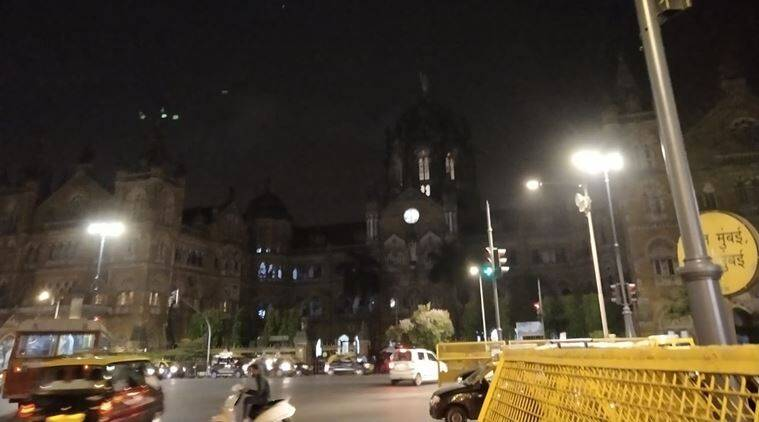 RARE SIGHT: CST lights off, possibly to mourn Atal Bihari Vajpayee's death. (Express Photo by Tanmay Patange)