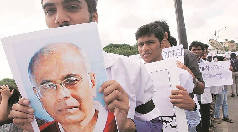 A march by students and volunteers of various organisations to pay tribute to Dabholkar. (File)