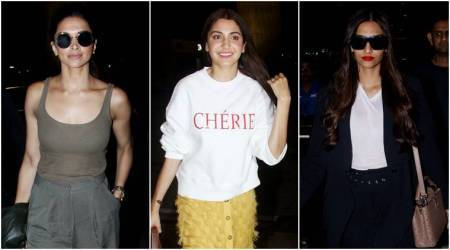 Best airport looks, Best airport looks bollywood, Deepika Padukone, Anushka Sharma, Sonam Kapoor, Shraddha Kapoor, celeb fashion, bollywood fashion, indian express, indian express news