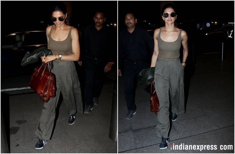 airport fashion, Deepika Padukone, Deepika Padukone airport fashion, Deepika Padukone latest news, Deepika Padukone latest photos, celeb fashion, bollywood fashion, indian express, indian express news