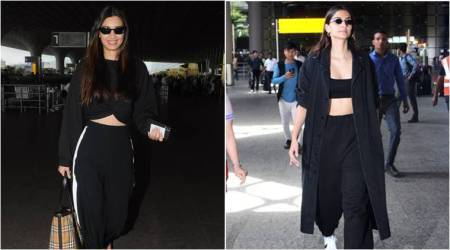 Sonam Kapoor or Diana Penty: Who rocked the all-black separates at theairport?