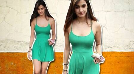 Disha Patanis green mini dress is a respite from the summer heat
