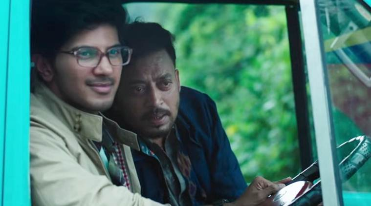 dulquer salmaan and irrfan khan in karwaan