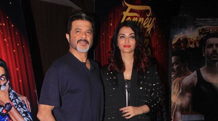 fanney khan scrrening attended by anil kapoor and aishwarya rai