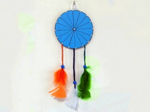 Independence Day 2018 Craft: DIY tricolour dreamcatcher