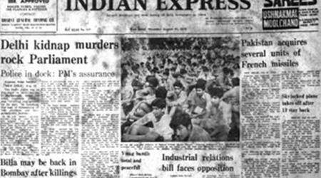 Geeta and Sanjay Chopra kidnapping case, chopra kids kidnapping, indian express Forty Years Ago,August 31, 1978, Capital Murders, delhi murders, indian express columns, indian express editorial