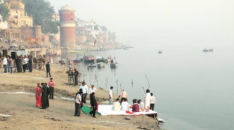 ganga, ganga river, ganga polltution, ganga level, ganga groundwater level, indian express