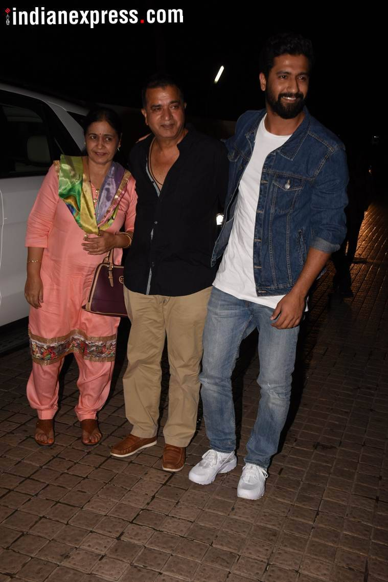 vicky kaushal at gold screening