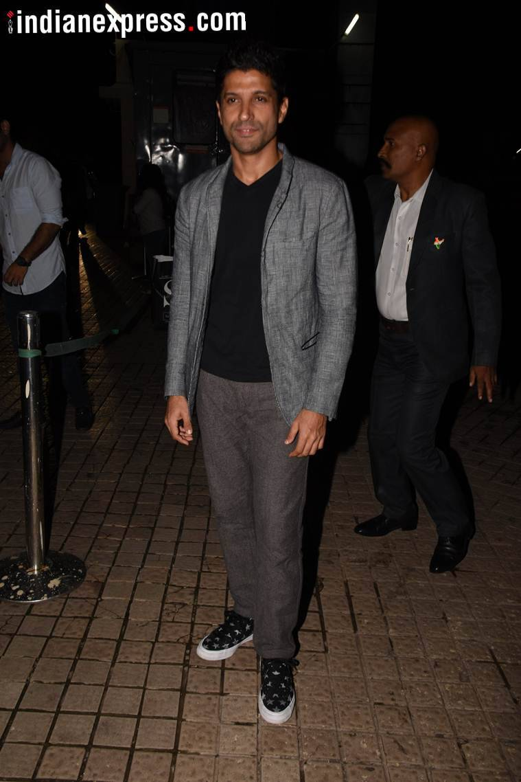 farhan akhtar at gold screening