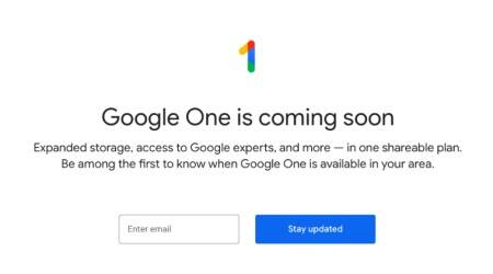Google One cloud storage now open to new users, but only for US