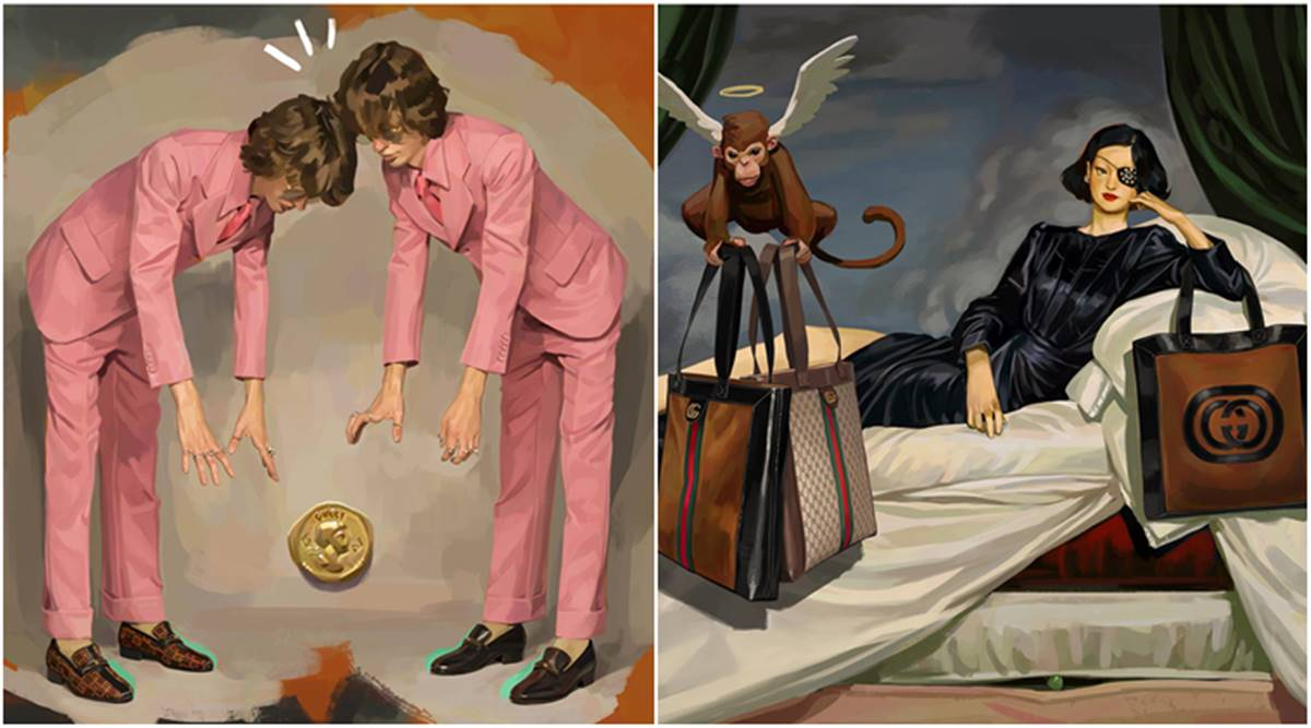 From Gucci To Louboutin 12 Times Fashion Designers Turned To Art For Inspiration Lifestyle News The Indian Express