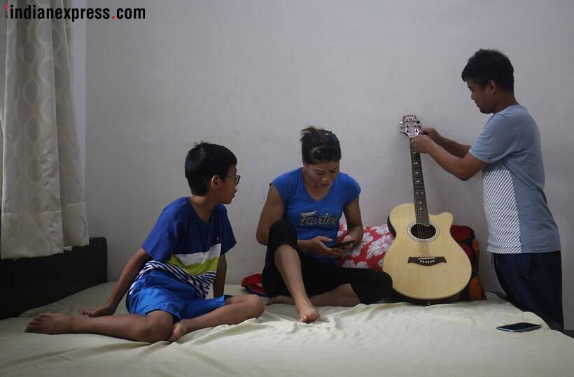 This is how Mary Kom spends quality time with her children