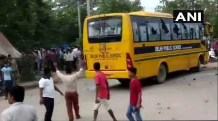 Gurugram: School bus runs over a couple on cycle