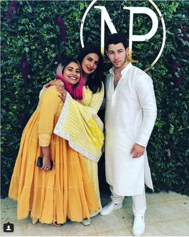 priyanka chopra with hairstylist priyanka borkar and nick jonas