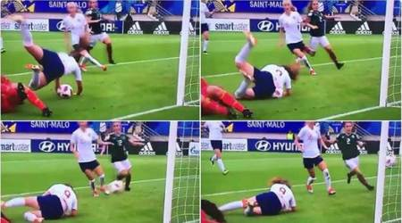 WATCH: England's Lauren Hemp scores the most bizarre goal ever