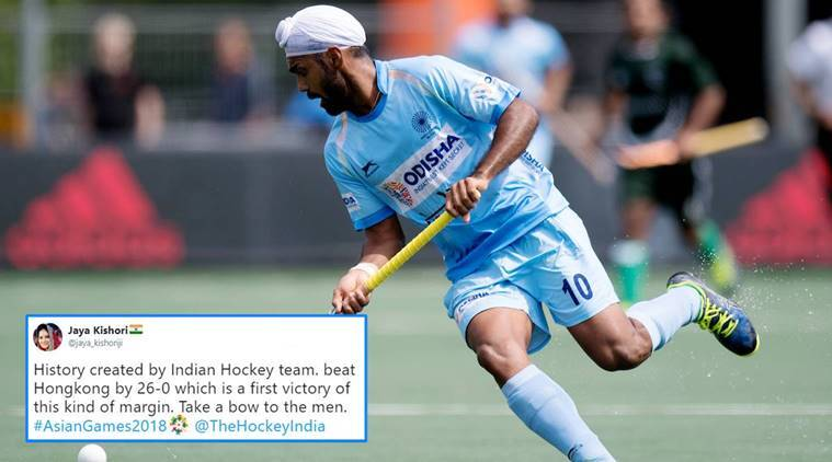 Asian Games 2018 Indian Men Hockey Team Thrash Hong Kong 26 0 Twitterati Hail The Historic Moment Trending News The Indian Express