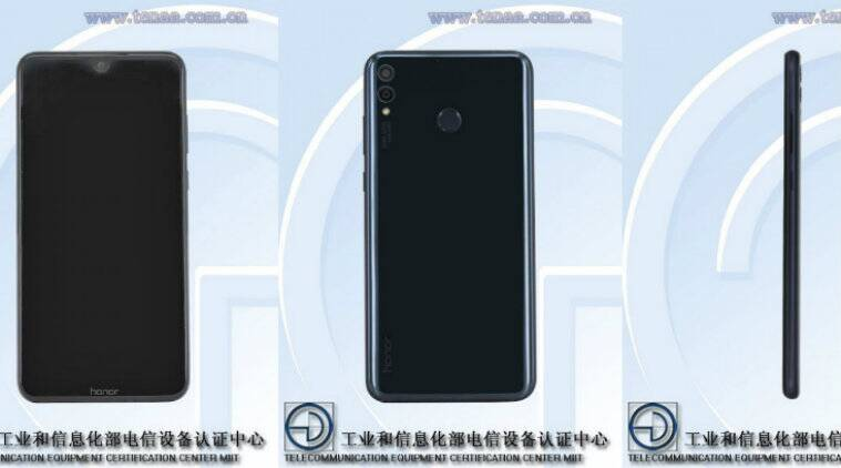 Honor 8X and Honor 8S images leaked, show a V-shaped notch