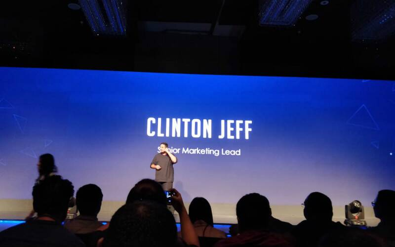 Honor Play launch in India: Clinton Jeff on stage