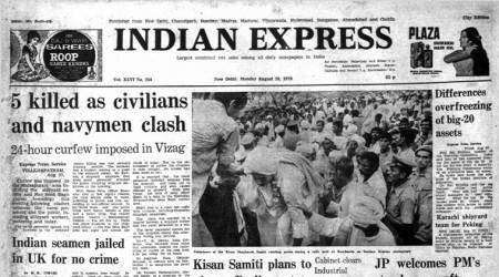 August 28, 1978, Forty Years Ago: Clashes In Vizag