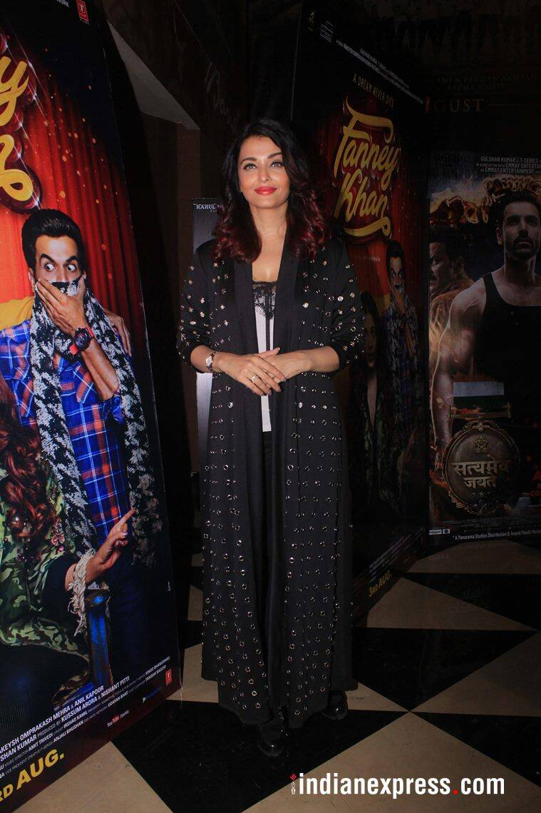 aishwarya rai at fanney khan screening