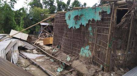 Imphal: Mob destroys house of murder suspect, family members expelled