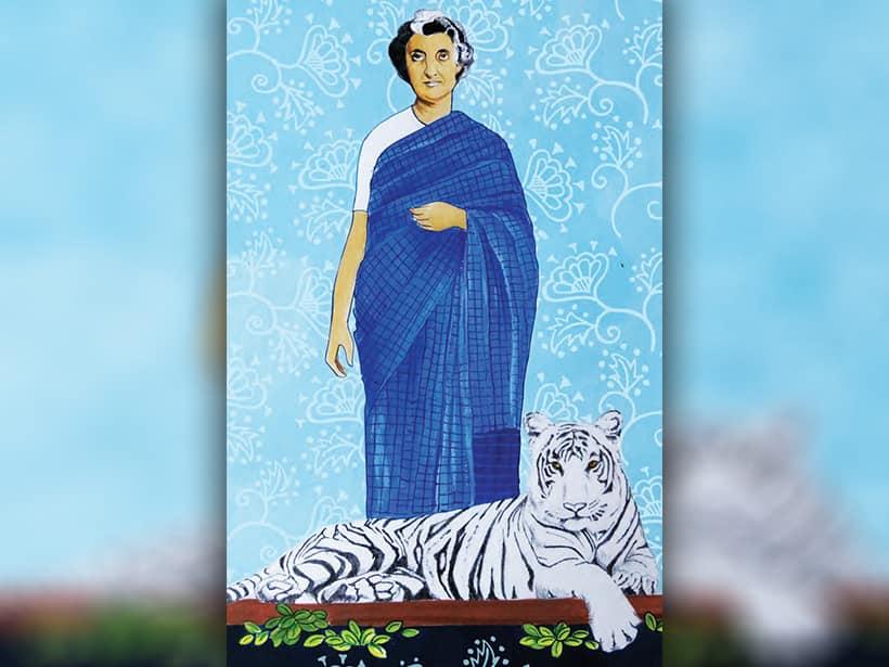 Indira Priyadarshini Gandhi, illustrated by Ayesha Broacha