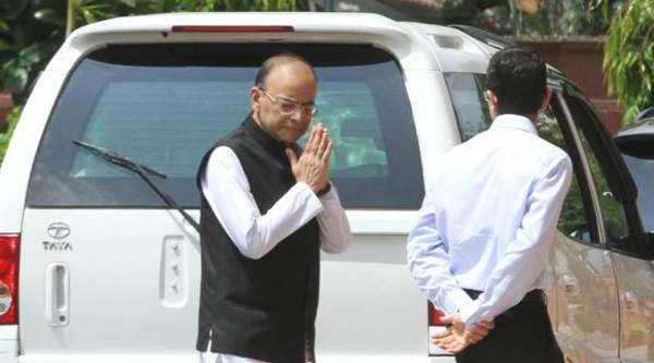 In first public appearance, Arun Jaitley attends Parliament for Rajya Sabha Deputy Chairman election