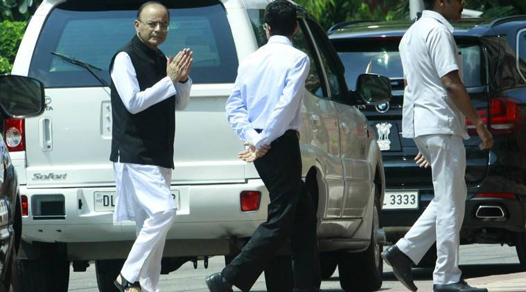 Arun Jaitley returns to House, votes in RS deputy chairman election