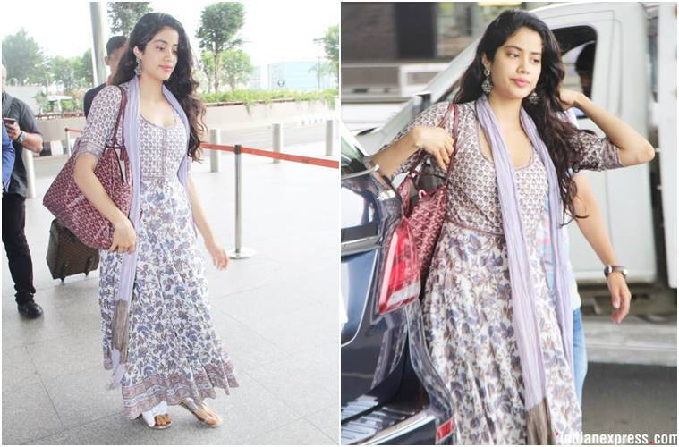 Janhvi Kapoor, Janhvi Kapoor fashion, Janhvi Kapoor airport fashion, janhvi kapoor travel style, celeb fashion, bollywood fashion, indian express, indian express news