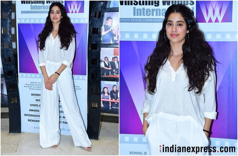Janhvi Kapoor, Janhvi Kapoor fashion, Janhvi Kapoor style, ishaan khatter, Janhvi Kapoor latest news, Janhvi Kapoor updates, Janhvi Kapoor latest pics, celeb fashion, bollywood fashion, indian express, indian express news