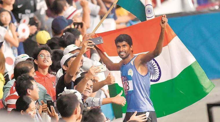 asian games 2018, asian games medals, Jinson Johnson, Jinson Johnson silver medal, india asian games medals, india medals asian games, india asian games, sports news, indian express news