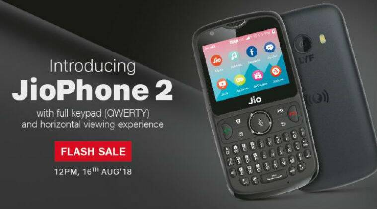 Jio Phone 2 flash sale begins 12 PM on August 16: Price, specification, and more