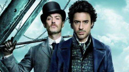 Robert Downey Jr as Sherlock Holmes and Jude Law as Dr John Watson.