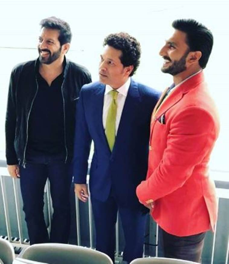 Kabir Khan, Ranveer Singh, Sachin Tendulkar