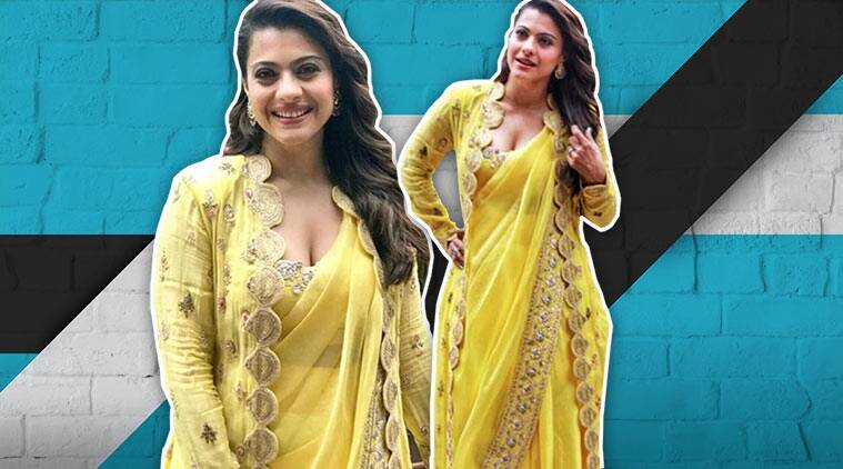 kajol, kajol fashion, kajol birthday, kajol sari, kajol movies, kajol ethnic look, indian express
