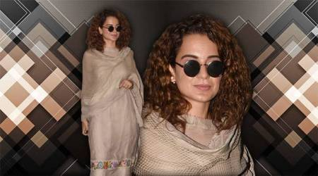 Kangana Ranaut's lovely salwaar kameez set is ideal for crisp monsoon evenings
