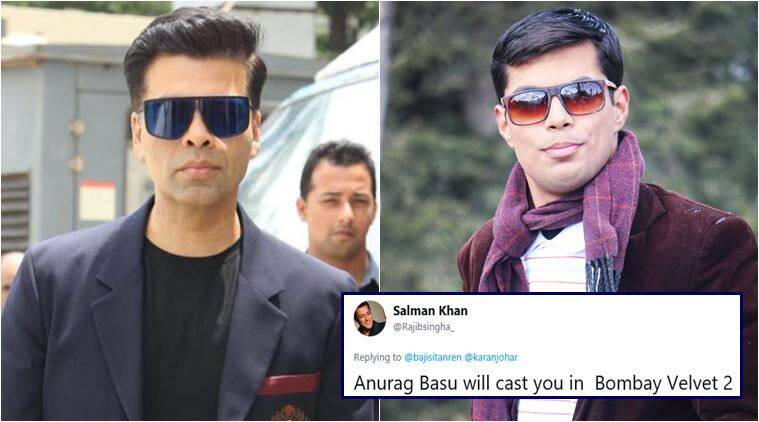 karan johar, karan johar lookalike, karan johar doppleganger, usman khan, celebrity lookalikes, viral news, funny news, entertainment news, indian express
