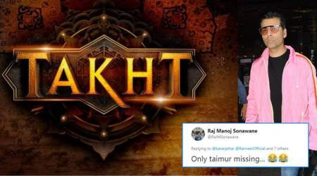 Karan Johar unveils cast of 'Takht', Twitterati wonder why Taimur is missing