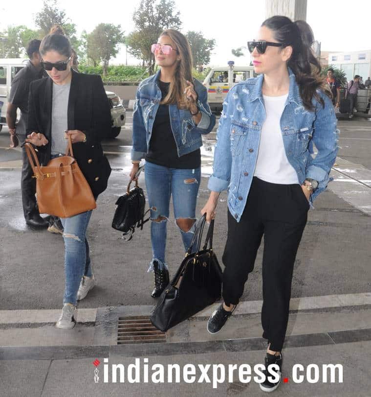 Kareena Kapoor Khan, Kareena Kapoor Khan latest photos, Kareena Kapoor Khan airport, Kangana Ranaut, Kangana Ranaut latest photos, Kangana Ranaut fashion, Karisma Kapoor, Karisma Kapoor fashion, indian express, indian express news