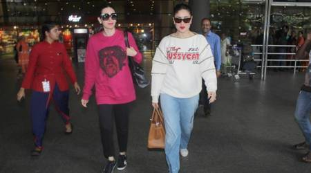 Kareena Kapoor Khan, Karisma Kapoor's airport style is preppy but disappointing